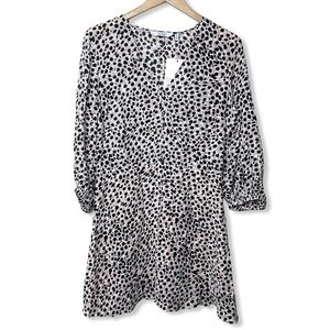 & Other Stories Natural Flowy Leopard Print Dress